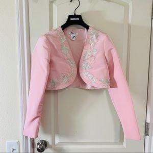 Jackets & Blazers - Oscar De La Renta Cropped Embroidered Jacket